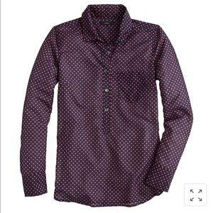 J. Crew • Cotton-silk voile dot popover • 00